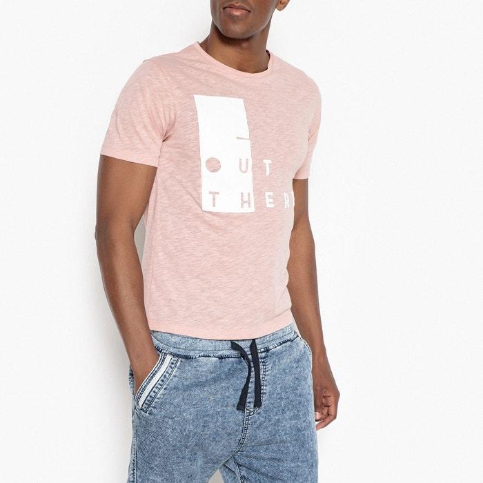 446c560e286 Tee shirt imprimé rose La Redoute Collections