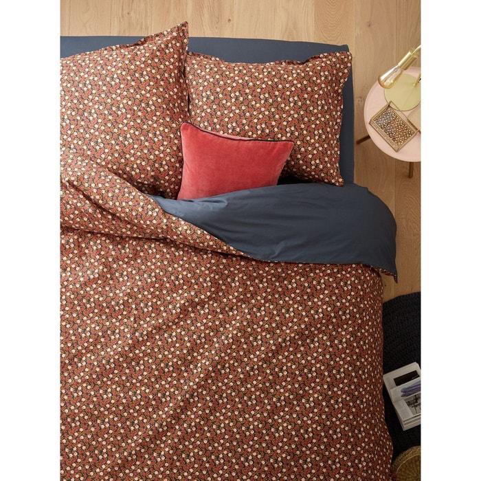 housse de couette en percale de coton orangers gris imprim cyrillus la redoute. Black Bedroom Furniture Sets. Home Design Ideas