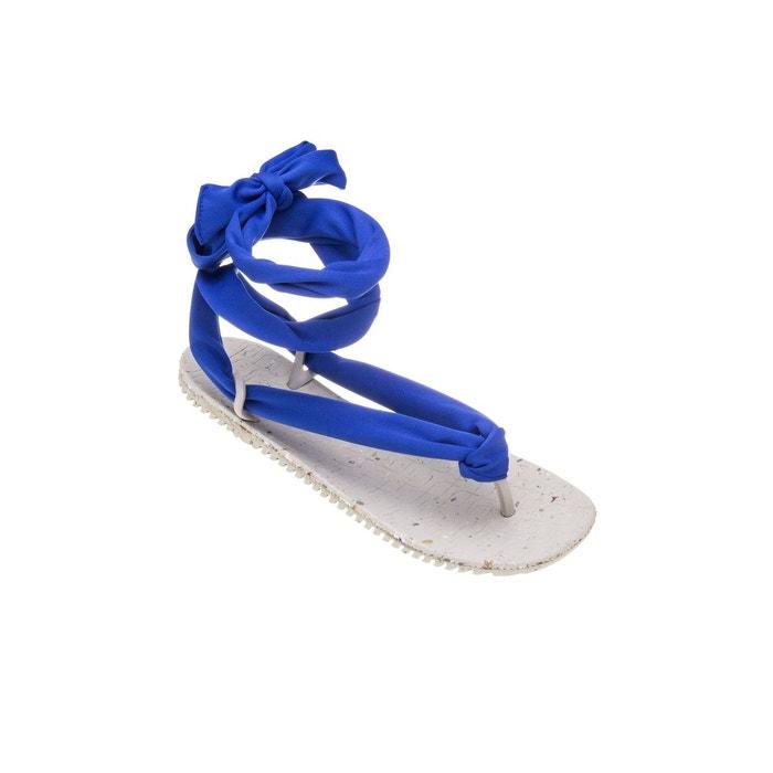 172da9c8db5 Sandales femme laces bleu et blanc bleu Amazonas