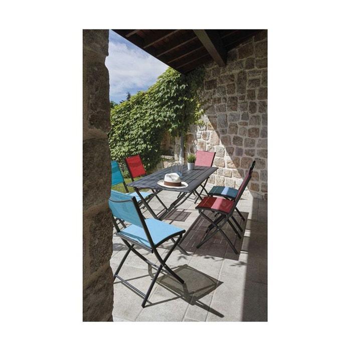 Salon de jardin pliable et coloré