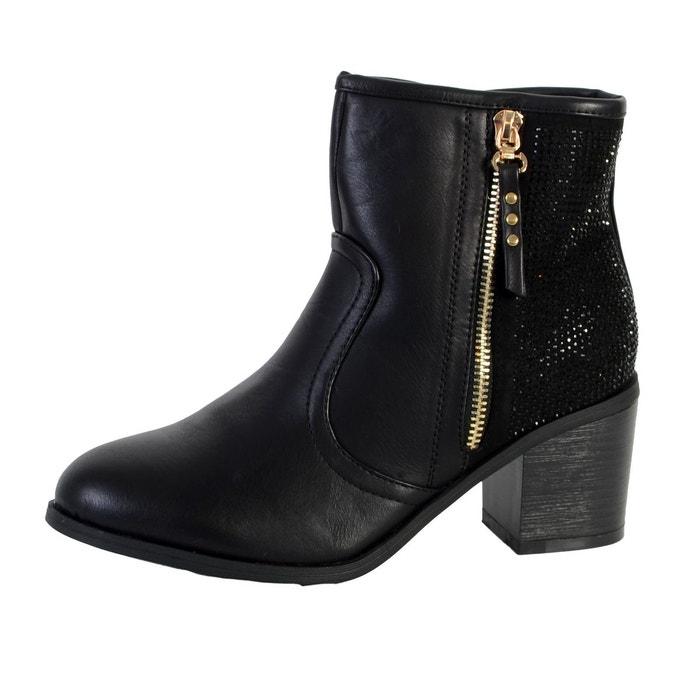 Chaussure botin mod combinado negro  noir Xti  La Redoute