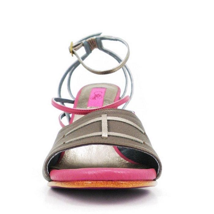 Chaussures femme en cuir balla charcoal Pring Paris