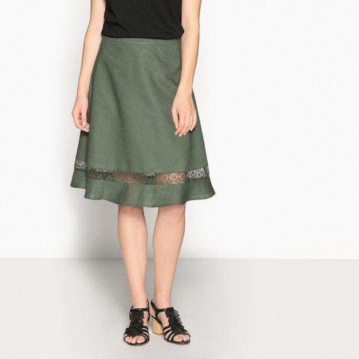 Lniano-bawełniana spódnica rozszerzana  ANNE WEYBURN image 0