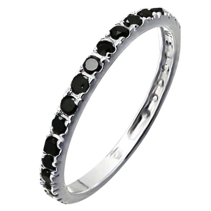 483225801e8 Bague anneau alliance tour complet noir argent 925 So Chic Bijoux ...