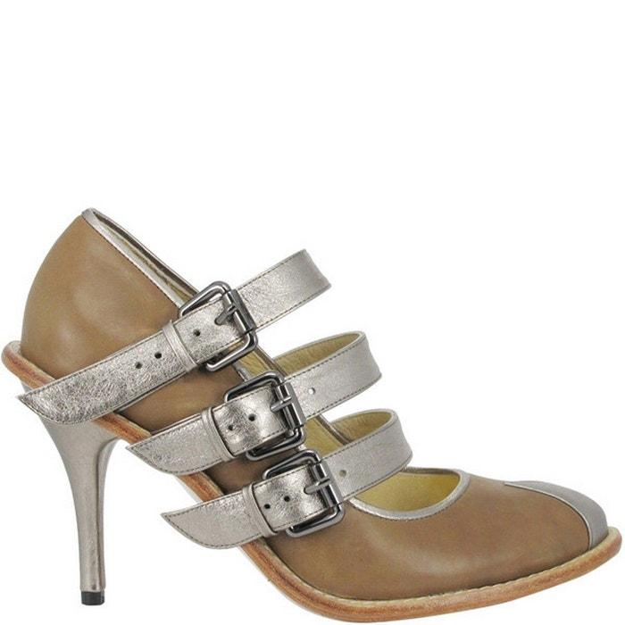 Chaussure femme en cuir sissy  taupe Pring Paris  La Redoute