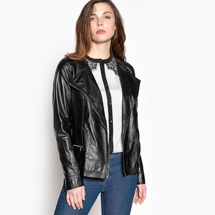 Soft Leather Biker Jacket  ANNE WEYBURN image 0