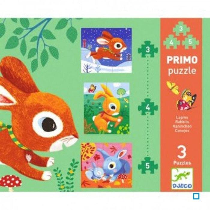 Puzzle Primo Lapins - DJE7140  DJECO image 0
