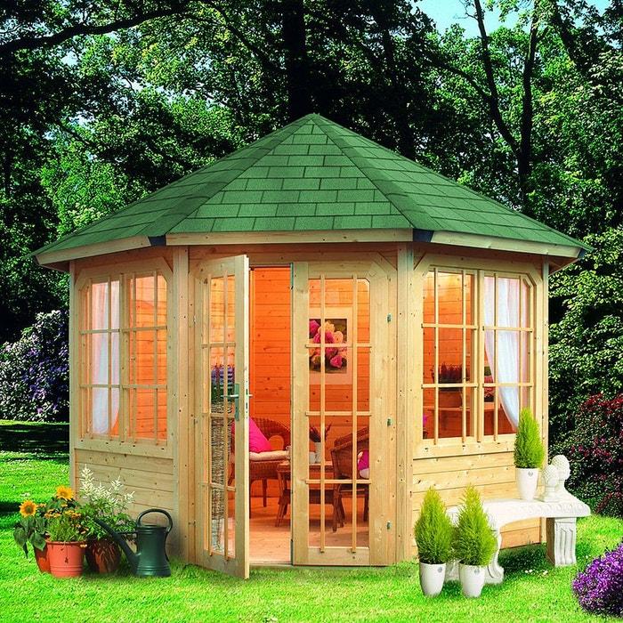 abri de jardin bois m2 gartenlaube roma 28mm l334. Black Bedroom Furniture Sets. Home Design Ideas