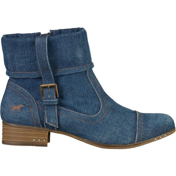 Bottines bleu jean Mustang