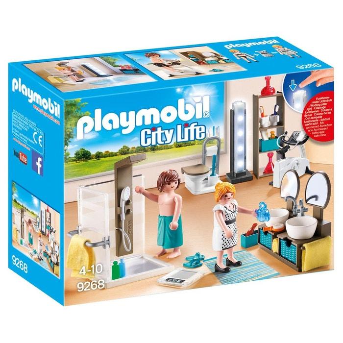 Salle de bain avec douche pla9268 couleur unique for Salle a manger playmobil city life