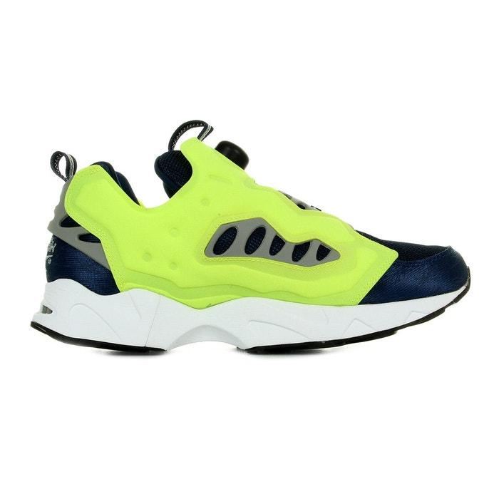 Baskets instapump fury road bleu marine, jaune Reebok