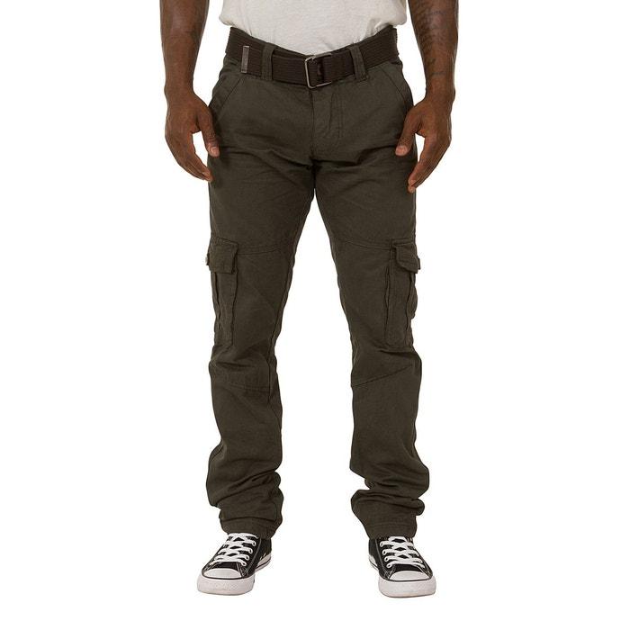 pantalon cargo chino homme gris uskees la redoute. Black Bedroom Furniture Sets. Home Design Ideas