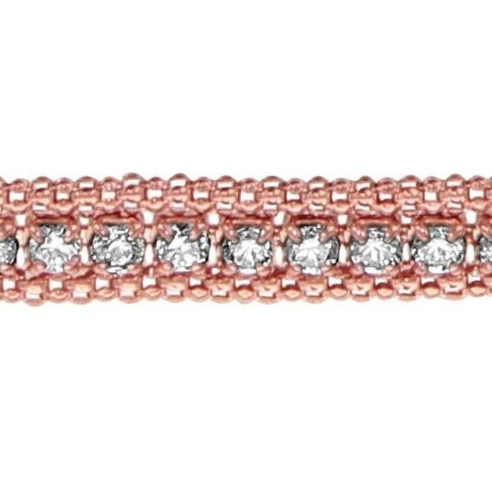 Bracelet longueur réglable: 17 à 19 cm rail dorure rose oxyde de zirconium blanc argent 925 couleur unique So Chic Bijoux | La Redoute choix Qualité Supérieure En Ligne Réduction Authentique Sortie La Sortie En Vogue 8LjJraF