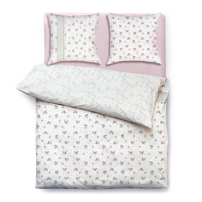 parure de lit jessica coton 57 fils blanc i fil home la redoute. Black Bedroom Furniture Sets. Home Design Ideas