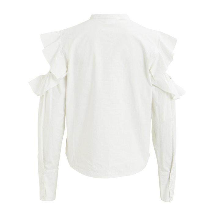 Camisa manga VILA larga descubiertos hombros con de UqEaEwxd