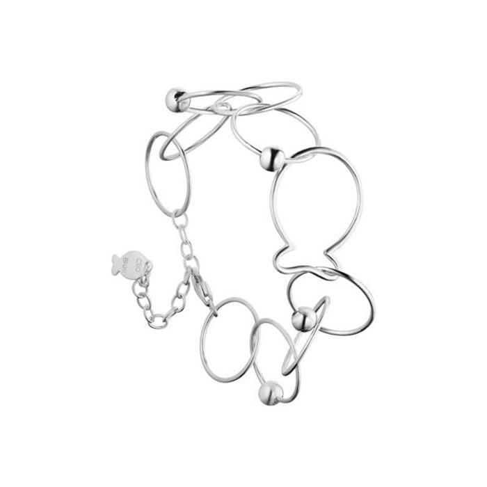 Bracelet chaîne love fish en argent 925, 7.1g argent Clio Blue | La Redoute