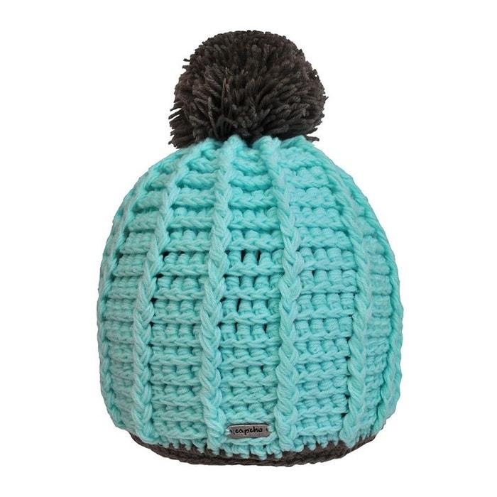 Bonnet à pompon water multicolore Toutacoo   La Redoute Boutique Pas Cher Vente Amazon Acheter Achat Pas Cher YcfDu