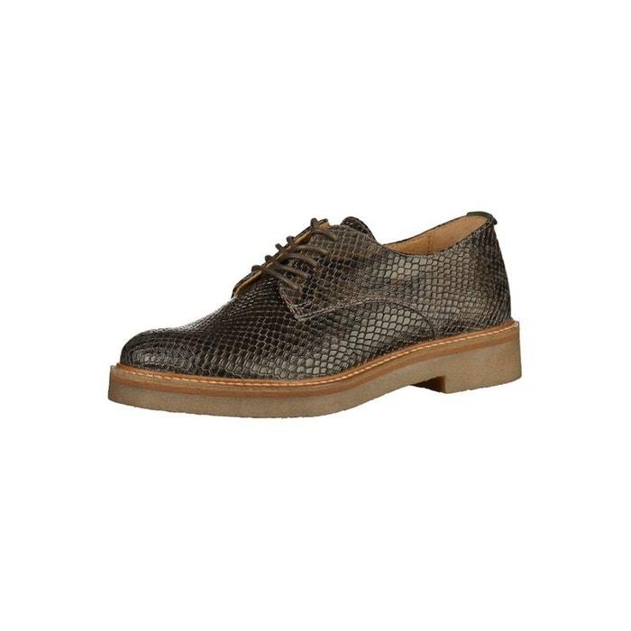 Chaussures à lacets femme KICKERS Oxfork Python Femme Gris KICKERS