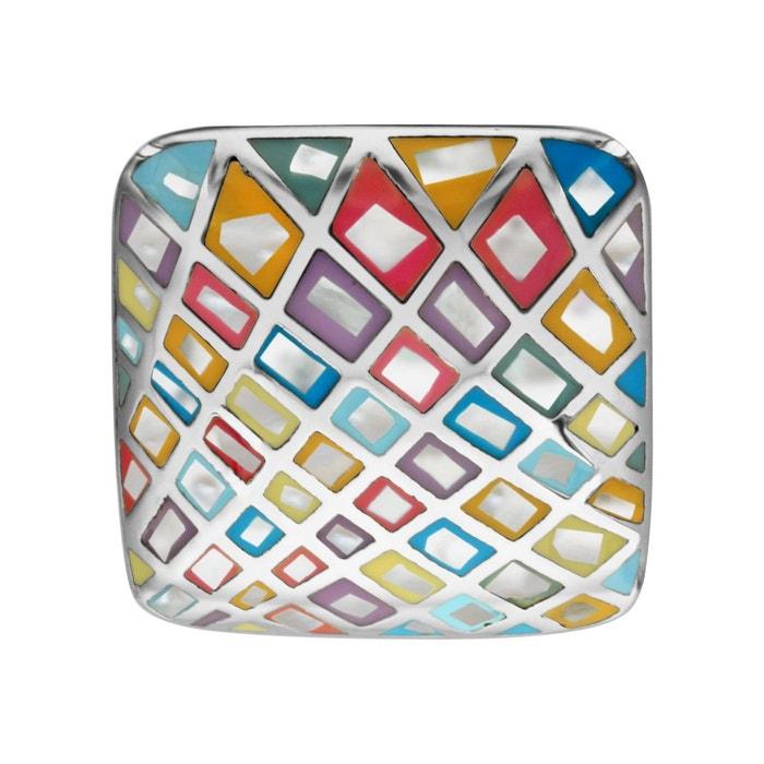 Bague carré nacre couleur pastel acier inoxydable couleur unique So Chic Bijoux | La Redoute Confortable À Vendre v6nRJgQr0U