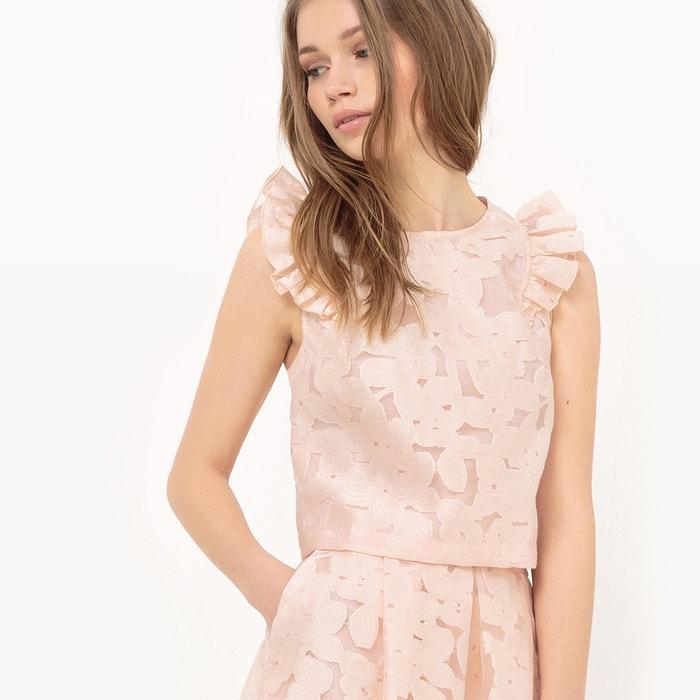 afbeelding Korte blouse met volants MADEMOISELLE R