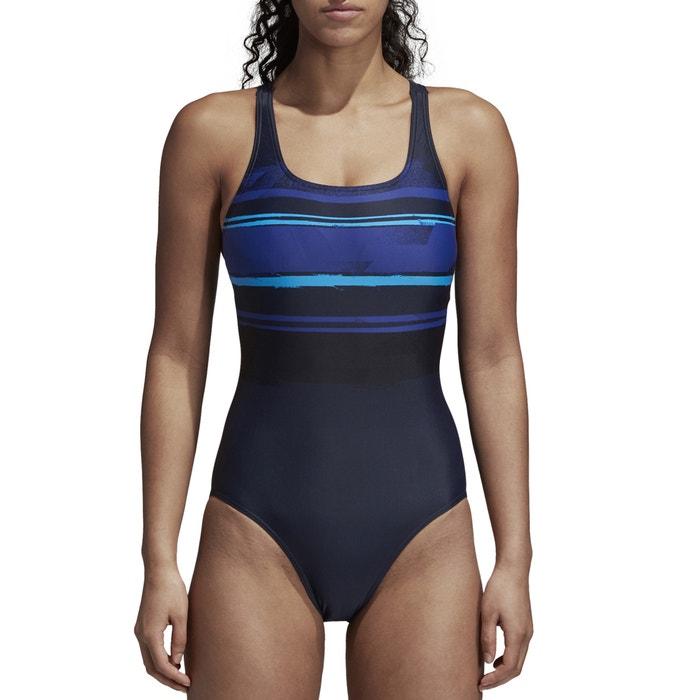 16842e6c47 Maillot de bain 1 pièce piscine imprimé Adidas Performance noir | La Redoute