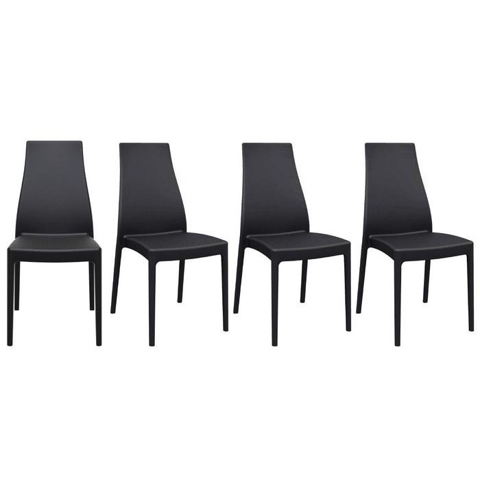 Chaises design empilables intérieur extérieur (lot de 4) CONDOR