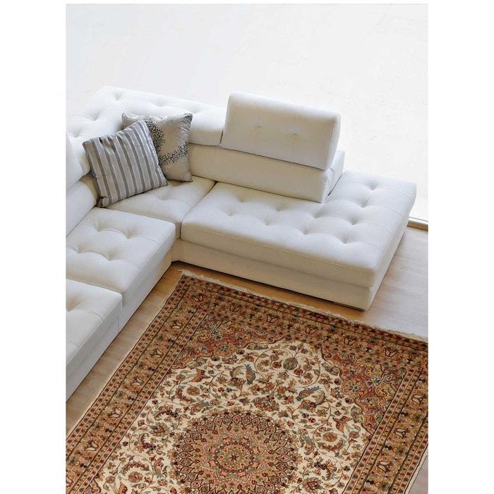 tapis naturel nou main prestige jihangir soie 26 laine et soie beige un amour de tapis la. Black Bedroom Furniture Sets. Home Design Ideas