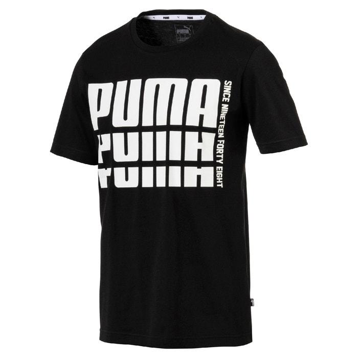 y cuello manga estampado de PUMA Camiseta redondo con corta delante 8nwEaxUIq