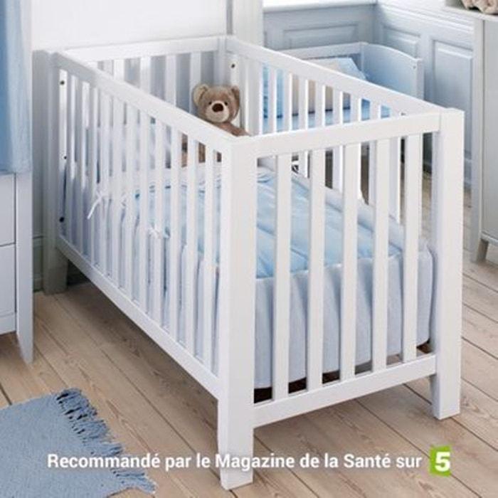 lit b b banquette bois massif 60x120 blanc alfred et compagnie la redoute. Black Bedroom Furniture Sets. Home Design Ideas