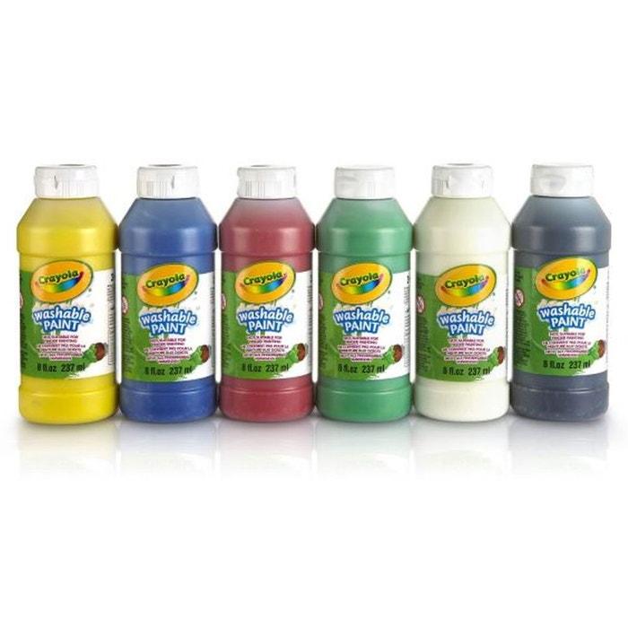 6 bouteilles de peinture lavable cra3926 viv392600 for Peinture lavable cuisine