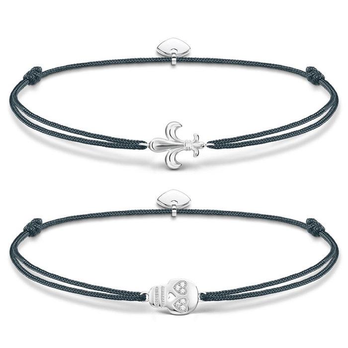 Bracelet argenté, gris, blanc Thomas Sabo | La Redoute