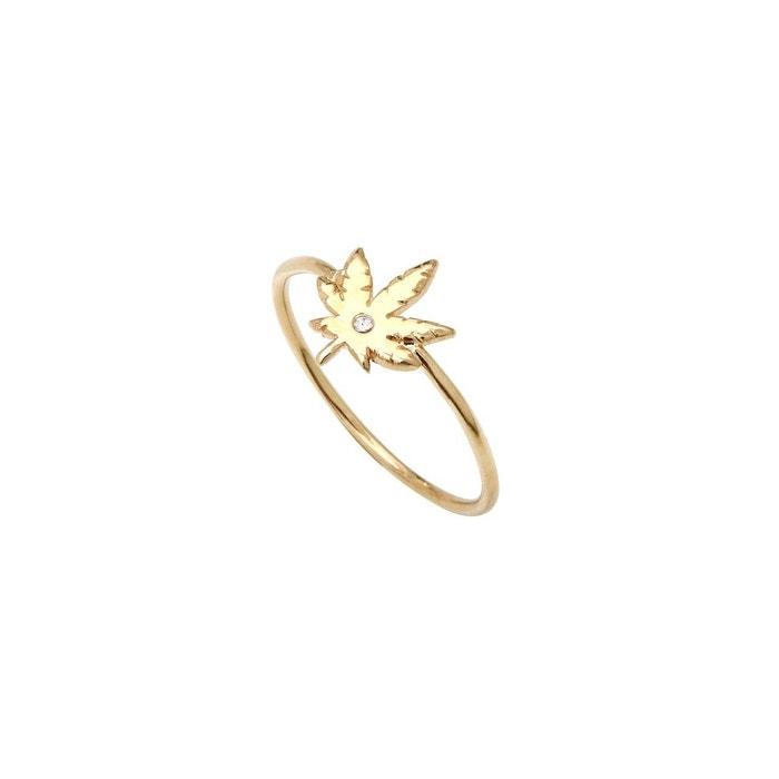 Bague dorée crystal mini 420 blanc Caroline Najman   La Redoute 100% Original Pas Cher En Ligne cAuE079ea