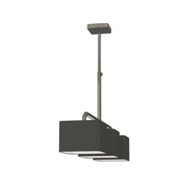 Suspension 3 Lampes Cube Chrome Tissu Boutica Design Boutica