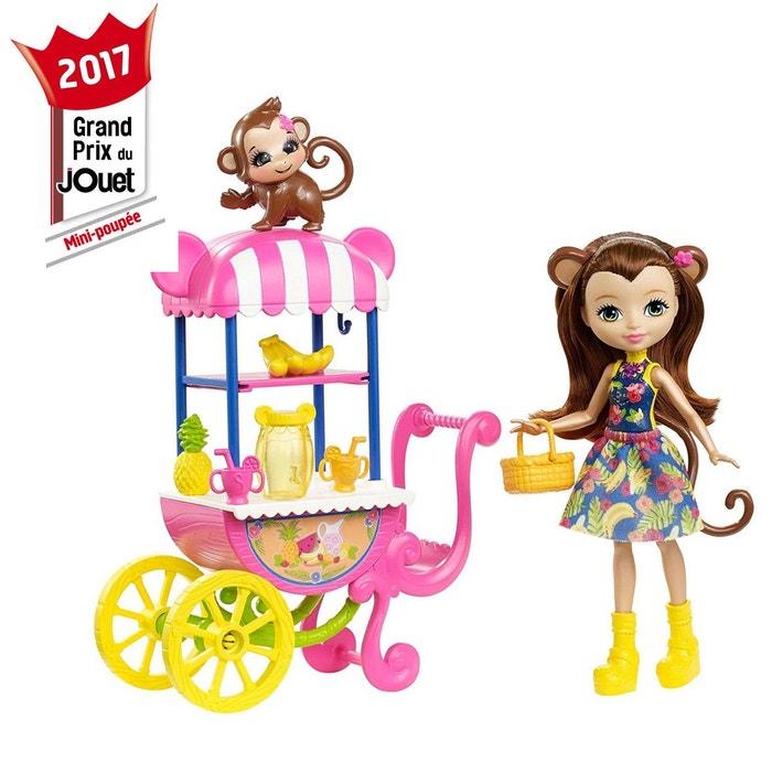 Mini-poupée Enchantimals : Merit Monkey et stand de fruits  MATTEL image 0