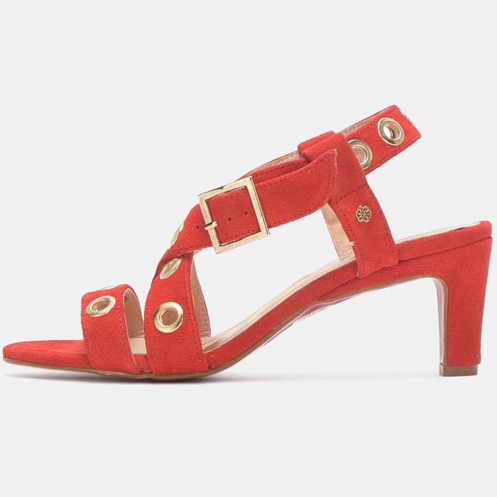 Sandales détail oeillets rouge Cuple Footlocker À Vendre Finishline BrFNh