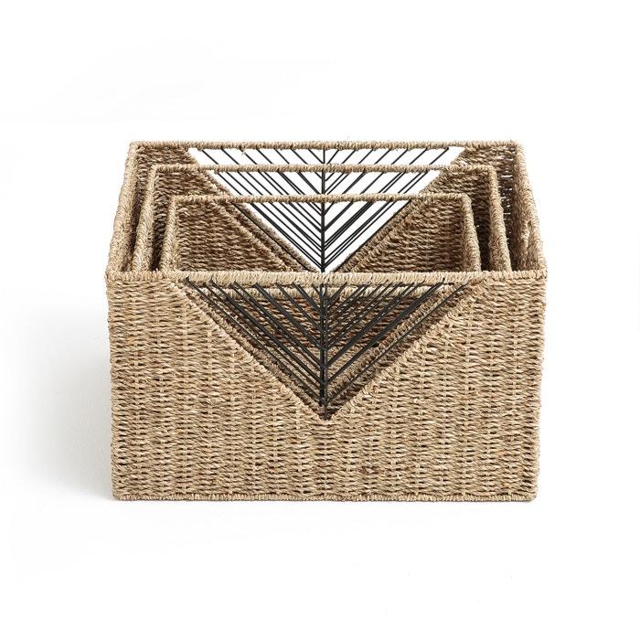 Lote 3 cestos rectangulares, TRESSIE  La Redoute Interieurs image 0