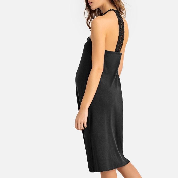 405486d68 Camisón corto de embarazo y lactancia negro La Redoute Maternité ...