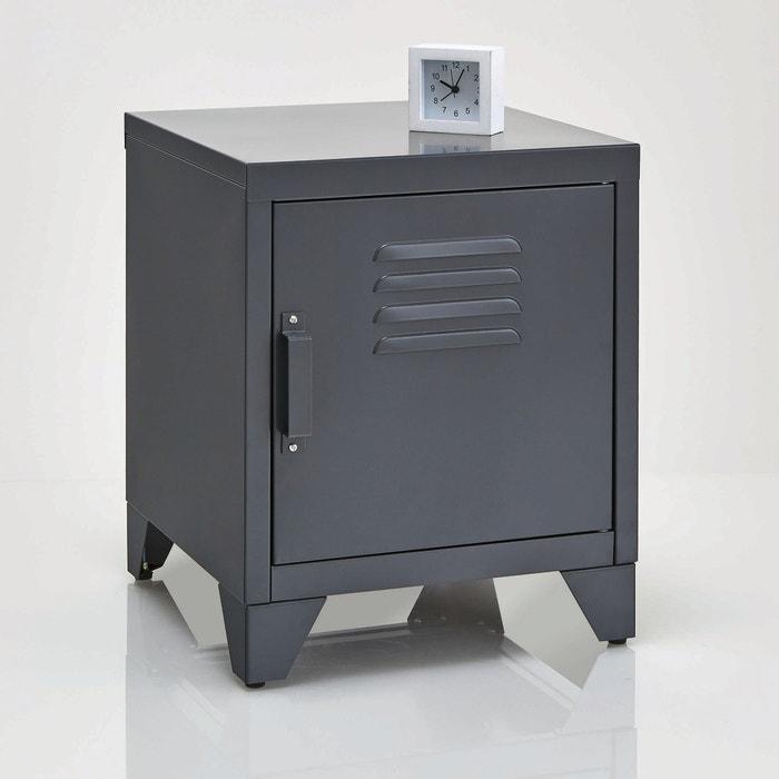Hiba Metal Bedside Cabinet.