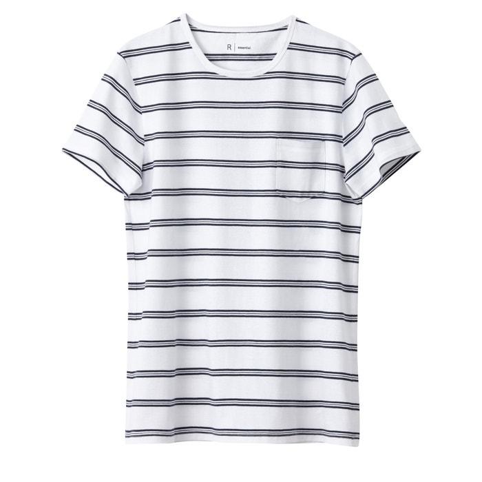 Imagen de Camiseta a rayas con cuello redondo 100% algodón R essentiel