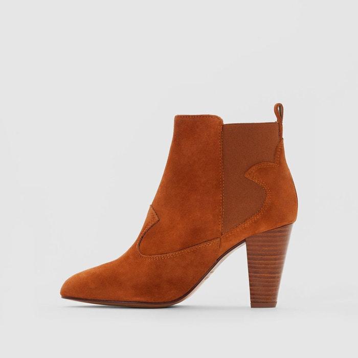 Boots cuir talon haut daisy Heyraud