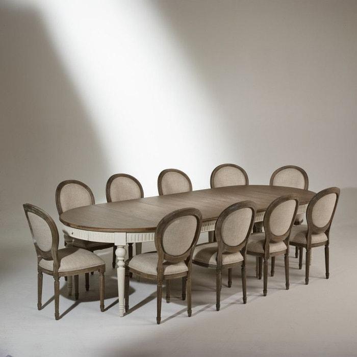 Table de salle manger aude extensible 4 16 couverts for Salle a manger 10 personnes