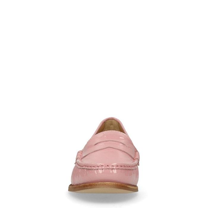 Loafers en cuir verni rose Sacha