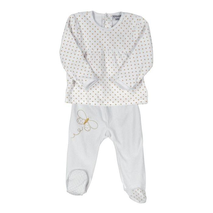 778beae4d59b8 Pyjama bébé 2 pièces - Papillons dorés