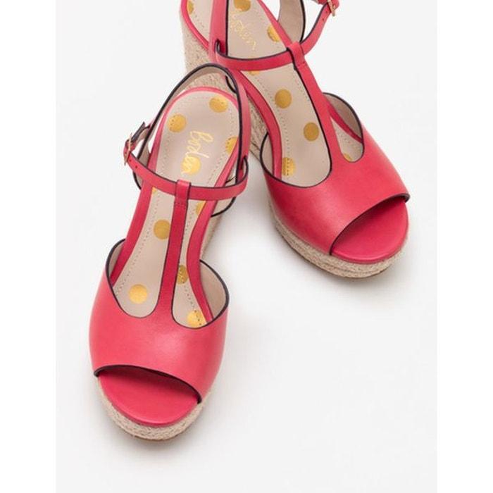 Salomés style espadrilles compensées rose carnaval Boden Livraison Gratuite Le Meilleur w1QMMOuSdx
