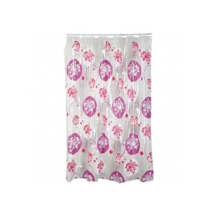 rideau de douche en vinyl imprim fleur fleur home bain. Black Bedroom Furniture Sets. Home Design Ideas