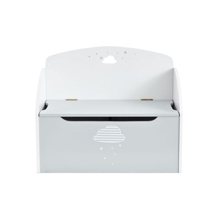 Banc coffre de rangement nuage gris/blanc Vertbaudet | La Redoute