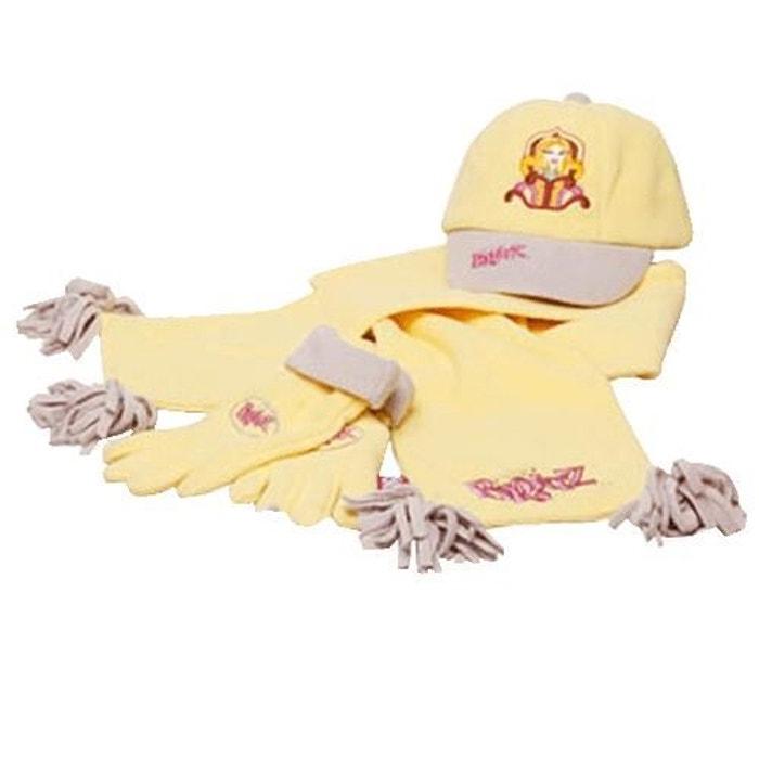 Set bonnet écharpe gants bratz jaune United Labels   La Redoute 2d5f08f7d14