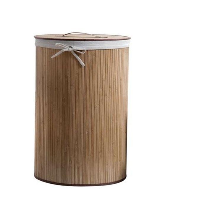 panier linge rond bambou bois clair compactor la redoute. Black Bedroom Furniture Sets. Home Design Ideas