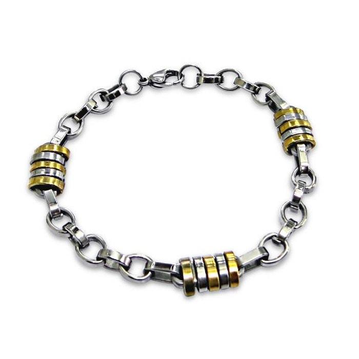 Bracelet homme cha ne acier inoxydable couleur unique so - Code promo la redoute livraison gratuite sans minimum d achat ...