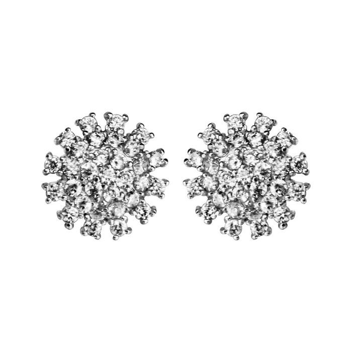 Achats En Ligne Jeu Achats En Ligne En Vente Boucles d'oreilles fleur oxyde de zirconium blanc argent 925 couleur unique So Chic Bijoux   La Redoute fydUAOFv